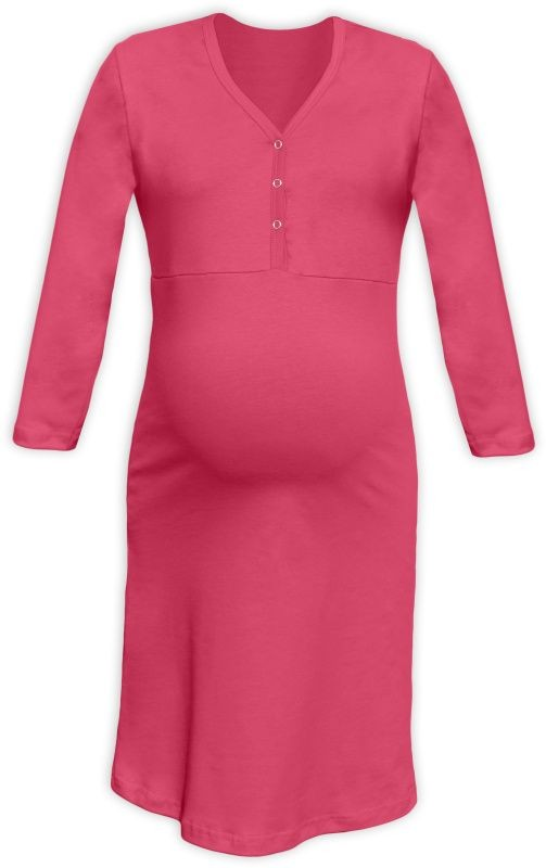 c6b621267180 Tehotenská a dojčiaca nočná košeľa s výstrihom na cvočky losos empty