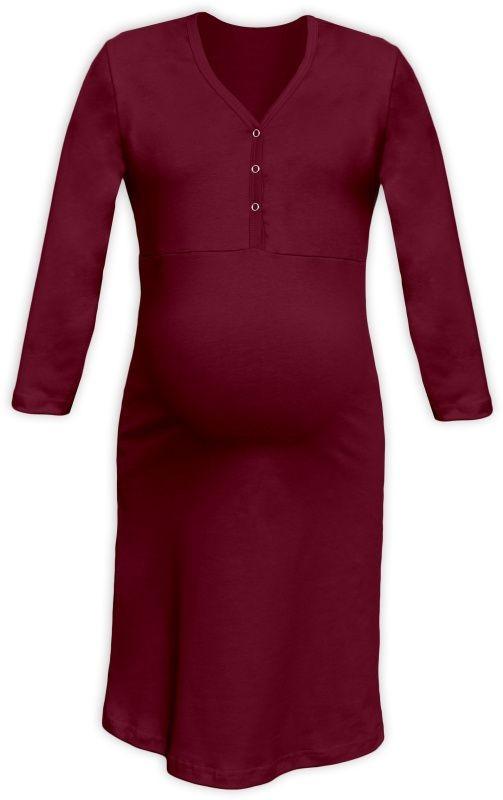 Tehotenská a dojčiaca nočná košeľa s výstrihom na cvočky bordo empty fd3182bbbb