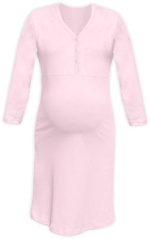 57b98dcc4a3a Tehotenská a dojčiaca nočná košeľa s výstrihom na cvočky sv.ružová empty