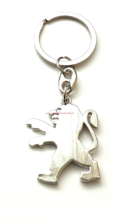 Prívesok na kľúče s logom Peugeot 9774874da96