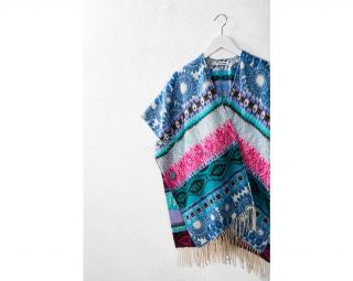 Desigual Poncho DENIM FOLK