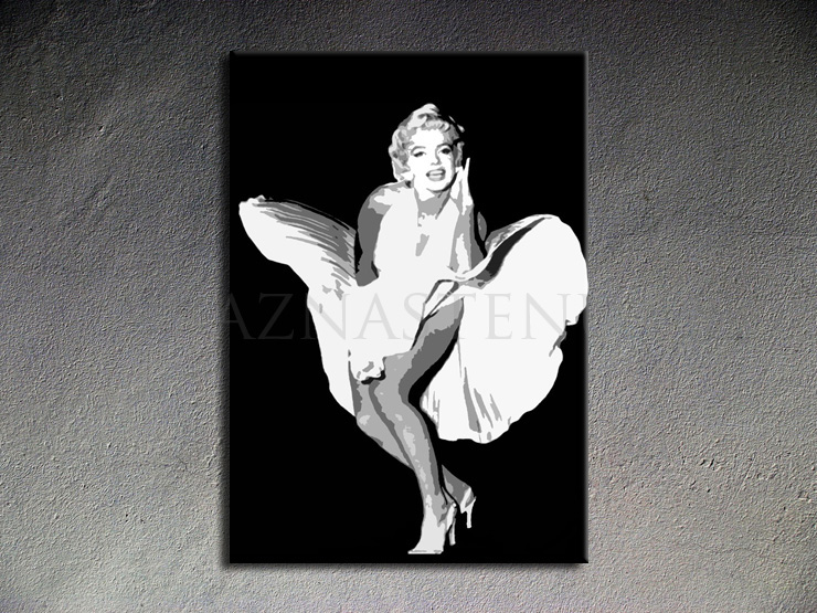 Maľované Obrazy Moderné Obrazy Obraz Marilyn Monroe