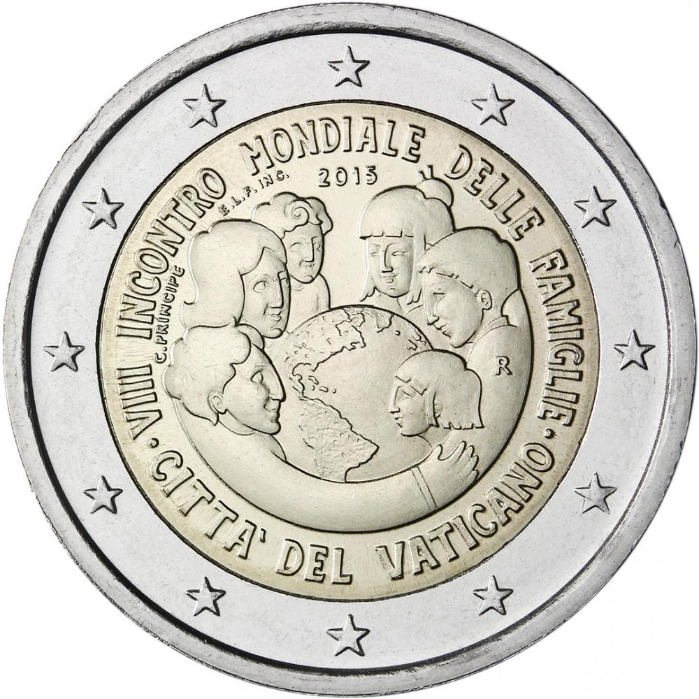 2bf00d6cb 2 euro 2015 Vatikán cc.UNC bez blistru Svetové stretnutie rodín