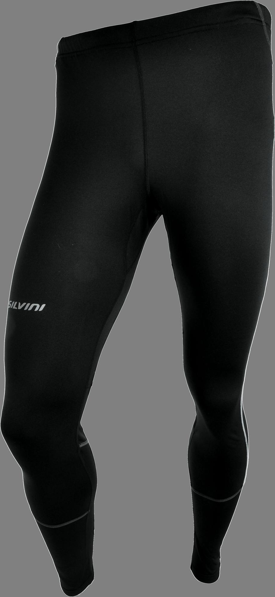 fe255d54d8ec Silvini Rubenza MP1116 pánske elastické nohavice black