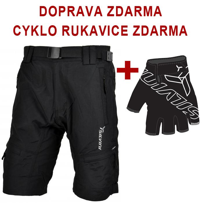 573d2192b917 Pánske cyklistické šortky SILVINI RANGO black + Cyklorukavice ZADARMO