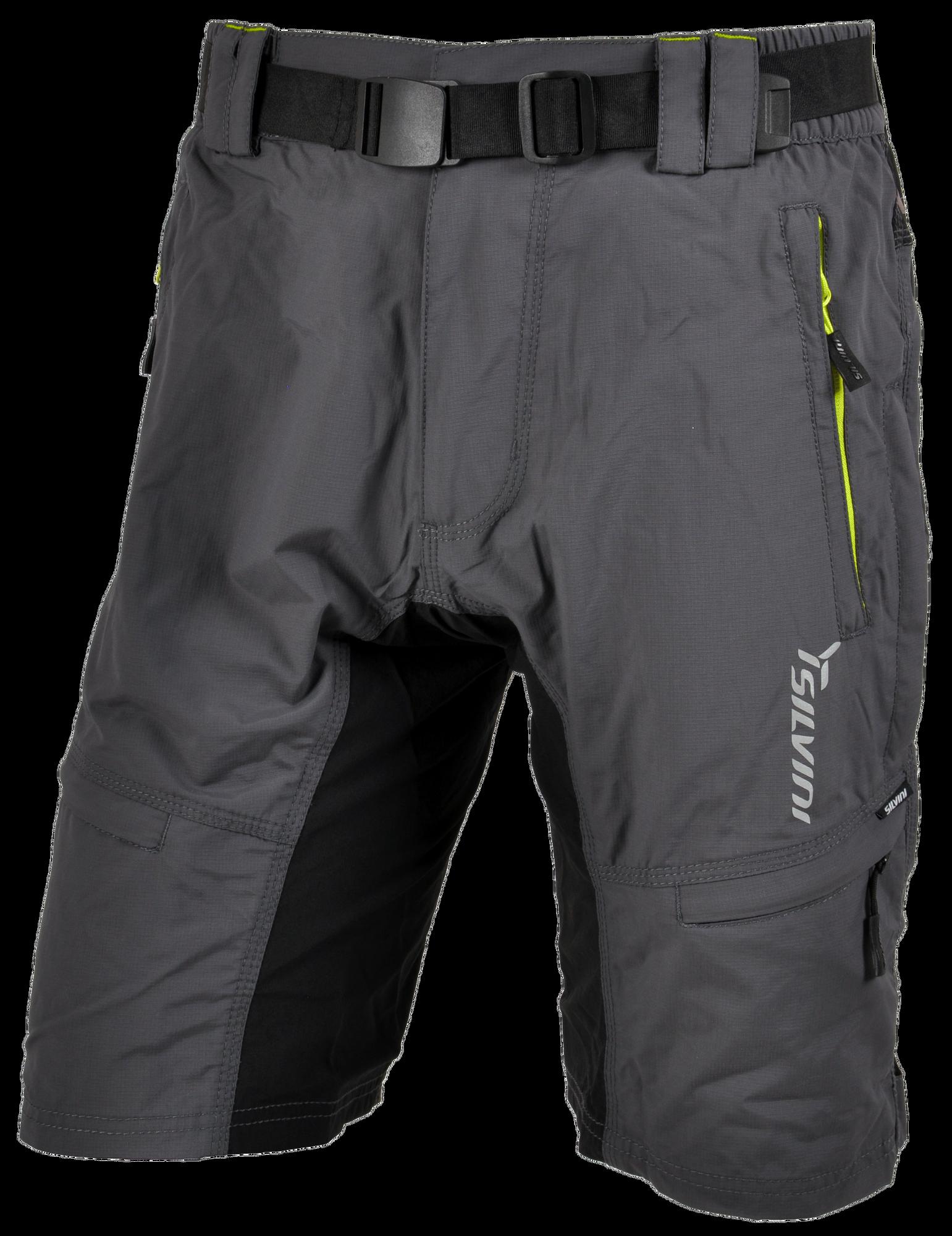 Silvini Cyklistické nohavice MTB RANGO MP857 voľné šedá zelená pánske 9a3a24a3357