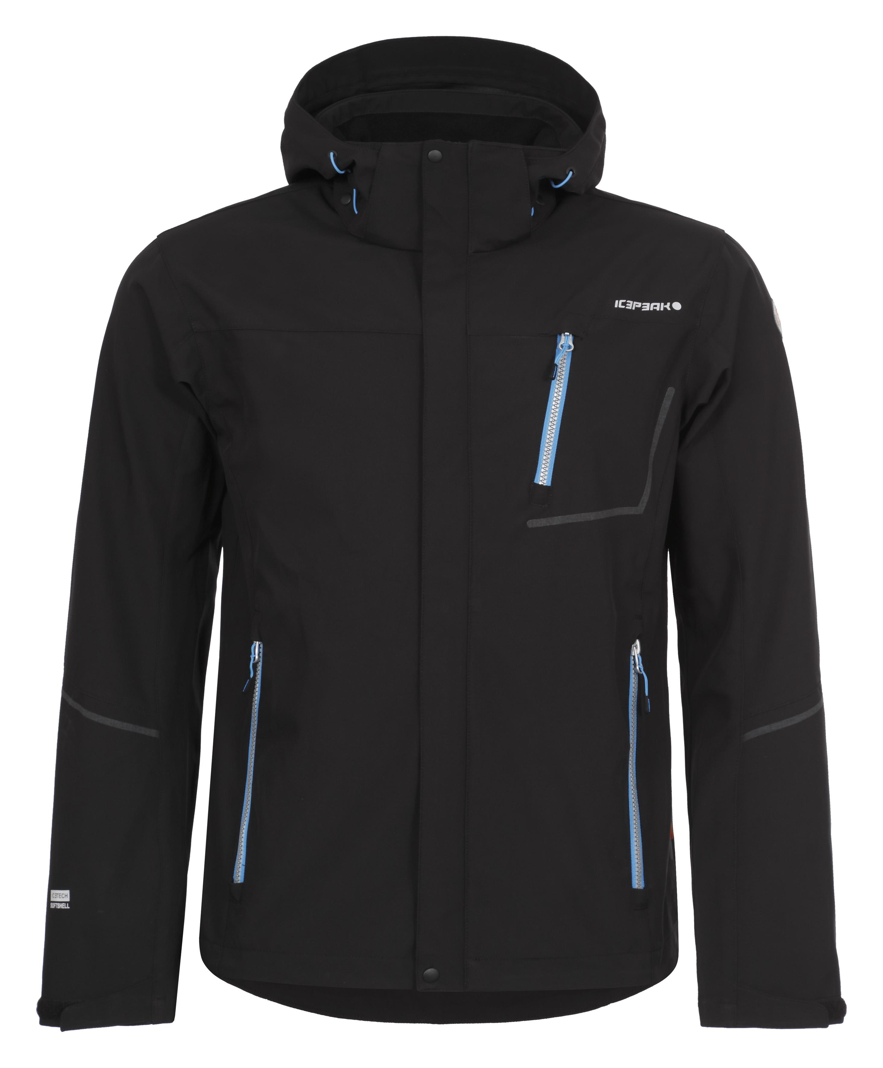 Pánska softshellová bunda Icepeak Severin čierna   modrá 57931-990 c1e21477c86