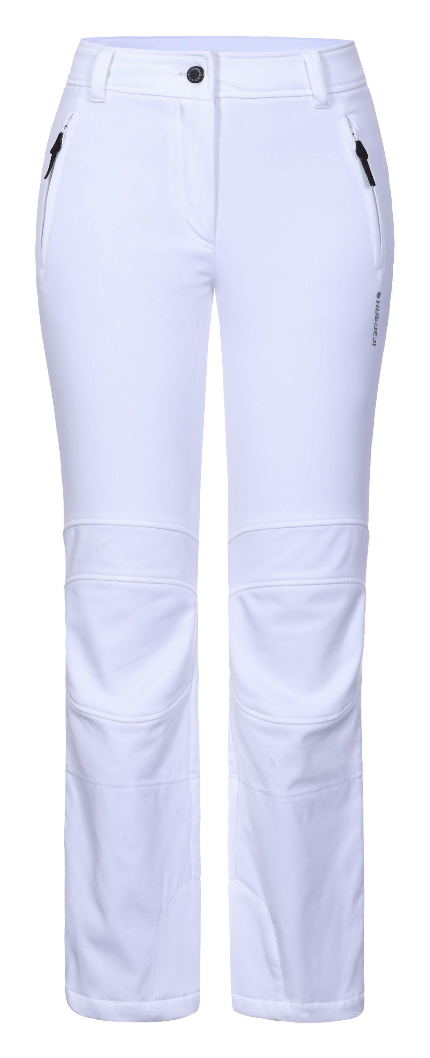 f30ee54b89e1 Icepeak Outi 54101-980 dámske softshellové nohavice biele
