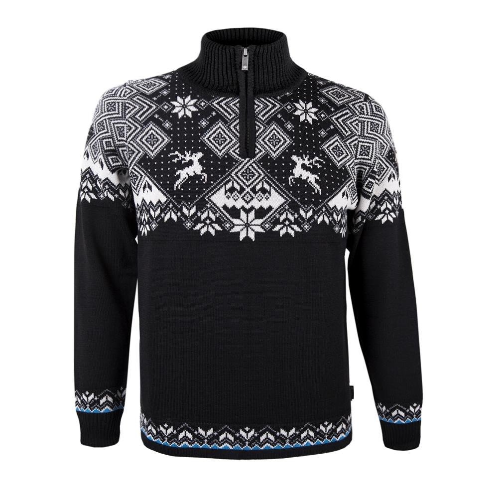b55a138f7549 Pánsky sveter Kama 4093 čierny 110 s nórskym vzorom