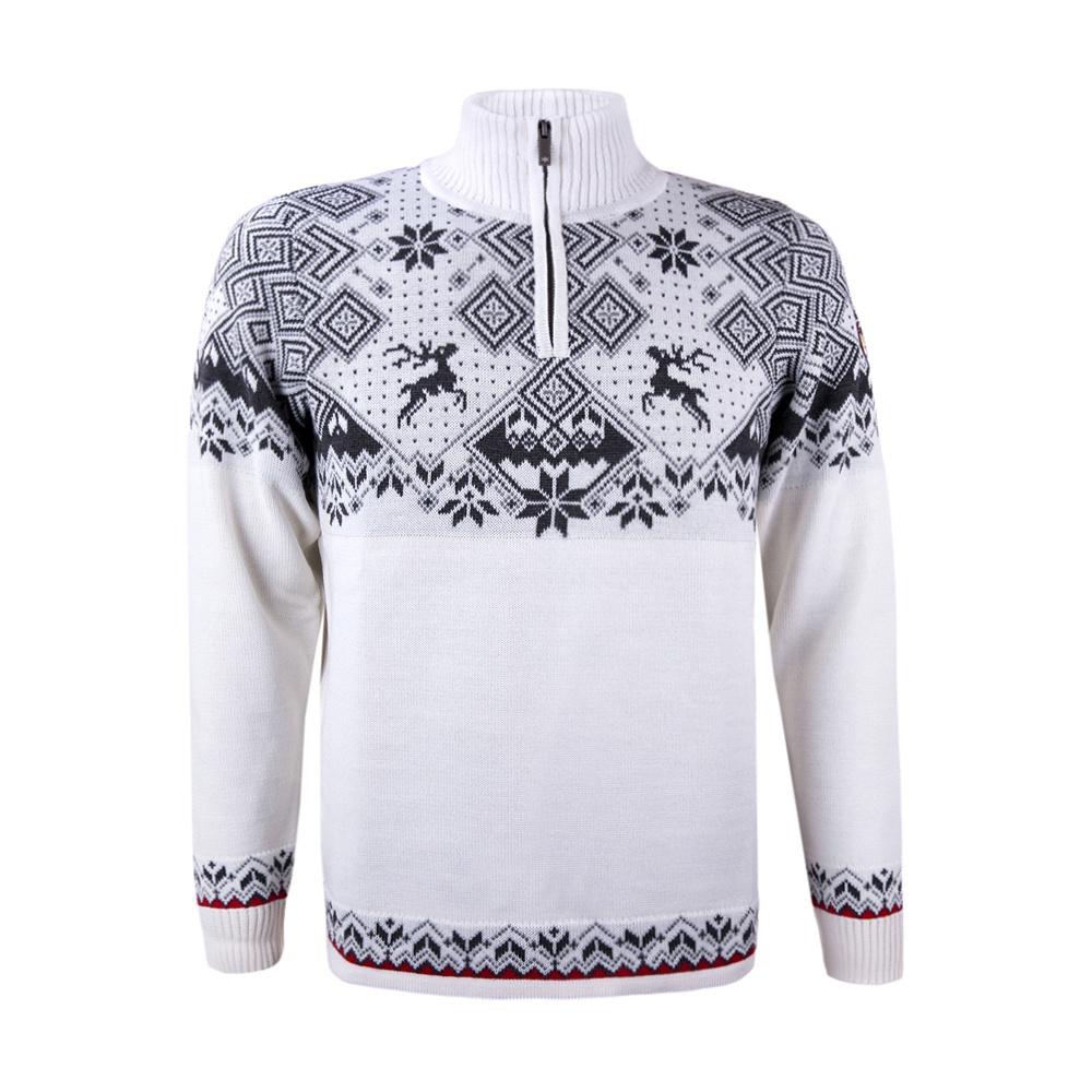 493c5146e0c6 Pánsky sveter Kama 4093 biely 100 s nórskym vzorom