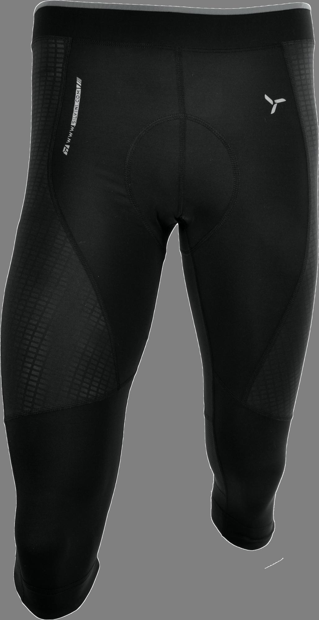 83e0442022e40 Pánske 3/4 cyklistické nohavice Silvini Fortore MP1005 čierne