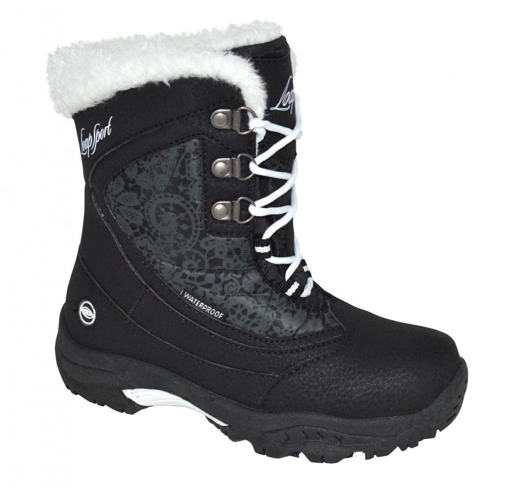 4f7027897 Detské zimné topánky Loap Spirit čierne