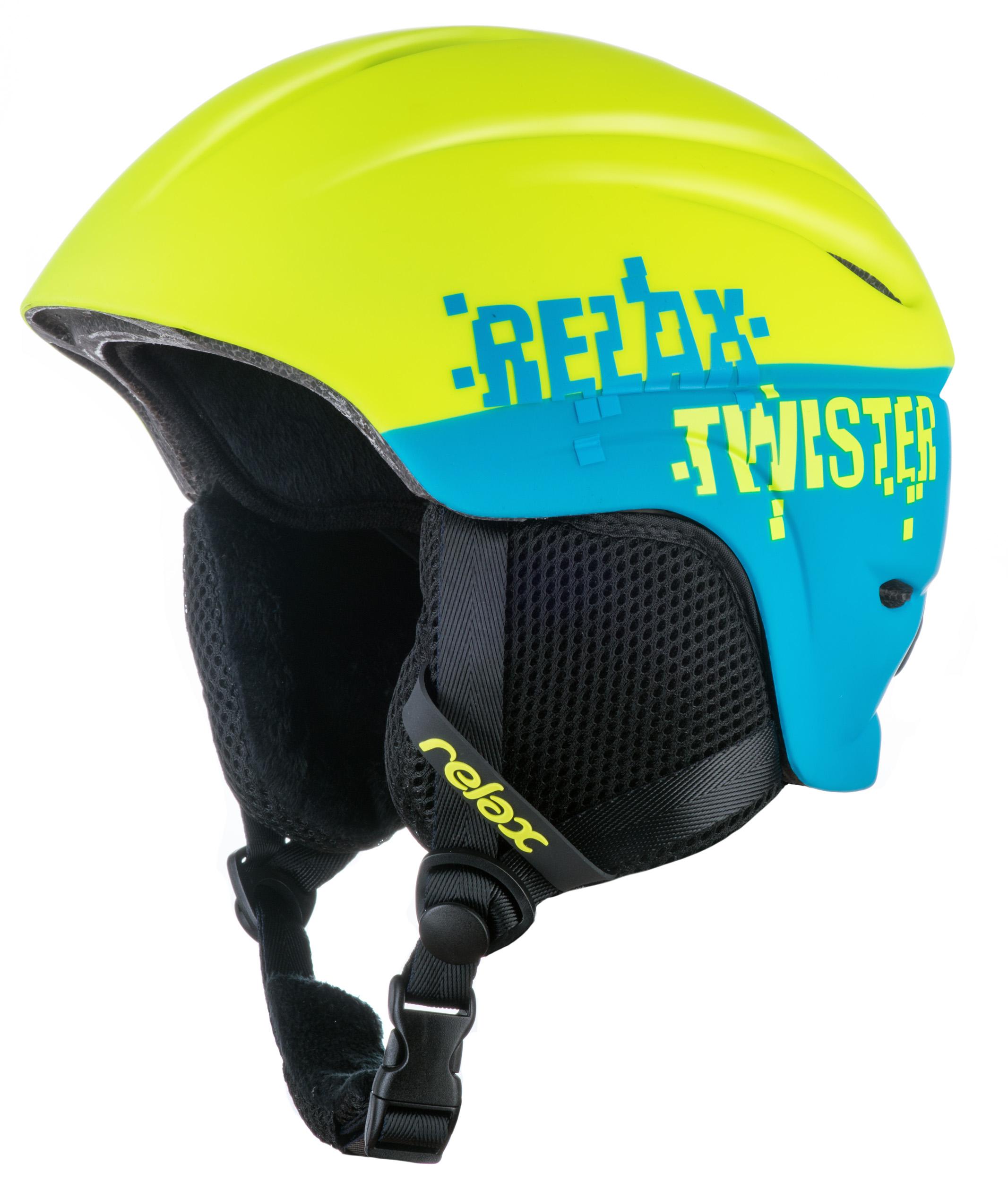 Relax Twister RH18V detská lyžiarska prilba žltá-modrá matná 1c82b8c0d0d