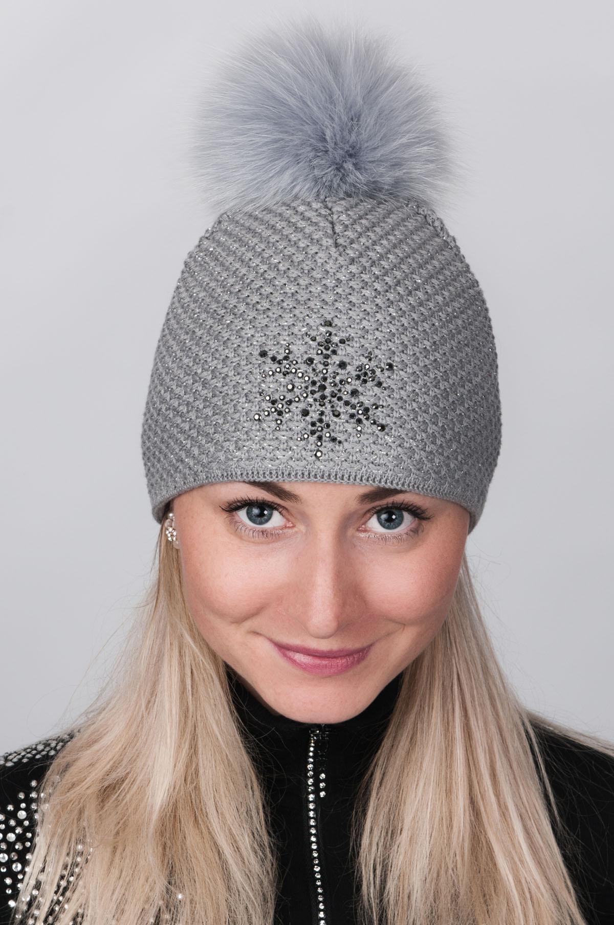 ec1ebcd0d Dámska čiapka R-Jet Top Fashion exclusive šedá-strieborný lurex