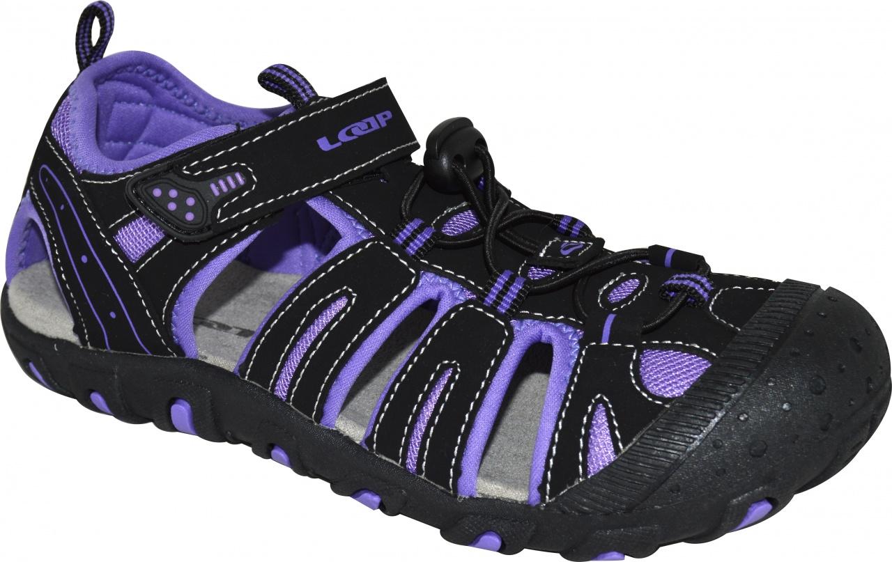 25e9a40a4d49 Loap Inity detské sandále čierna fialová