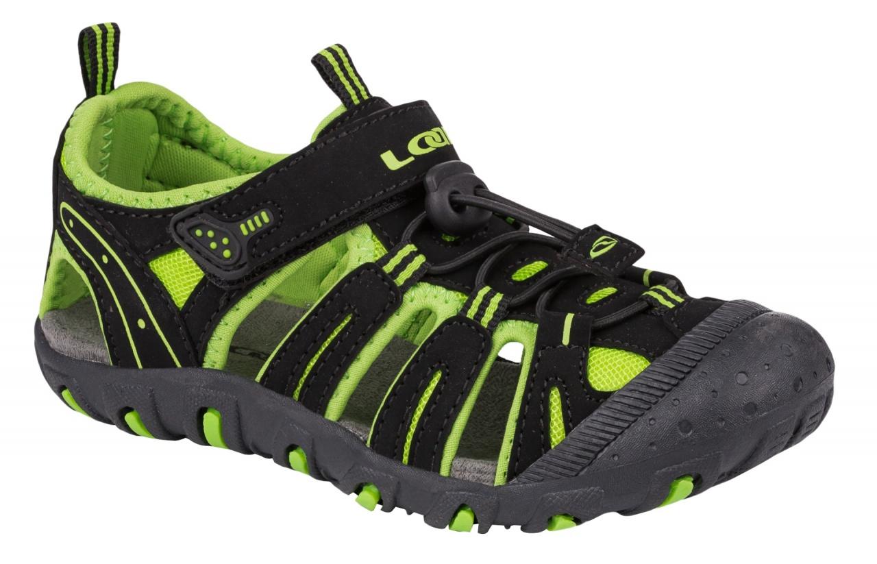 7b9cf6294c9d Loap Inity detské sandále čierna zelená