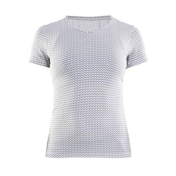 8432c9be3658 CRAFT Essential V 1906048-122900 dámske tričko biele s potlačou