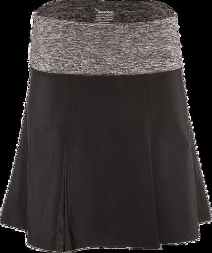 458aaa0452e6 Dámska cyklistická sukňa Silvini Salso WS1217 čierna sivý melír