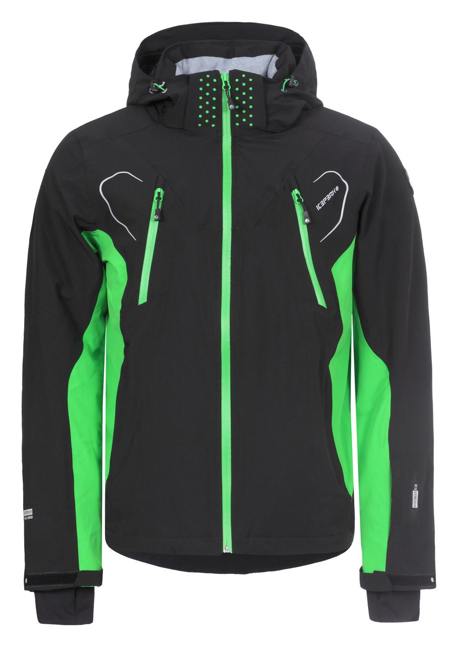 d758f49d4 Pánska lyžiarska bunda Icepeak Nemo čierna/zelená col. 990