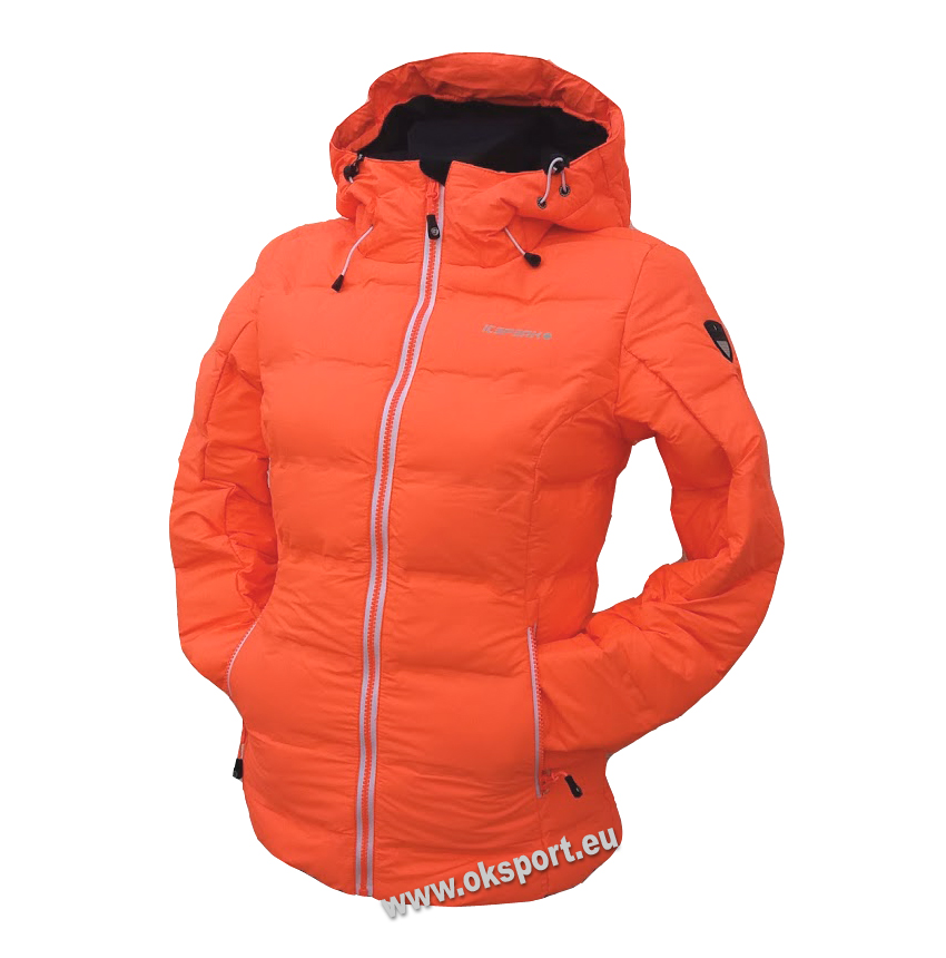 Dámska páperová bunda Icepeak Nia neónovo oranžová col. 455 d57b22670e4
