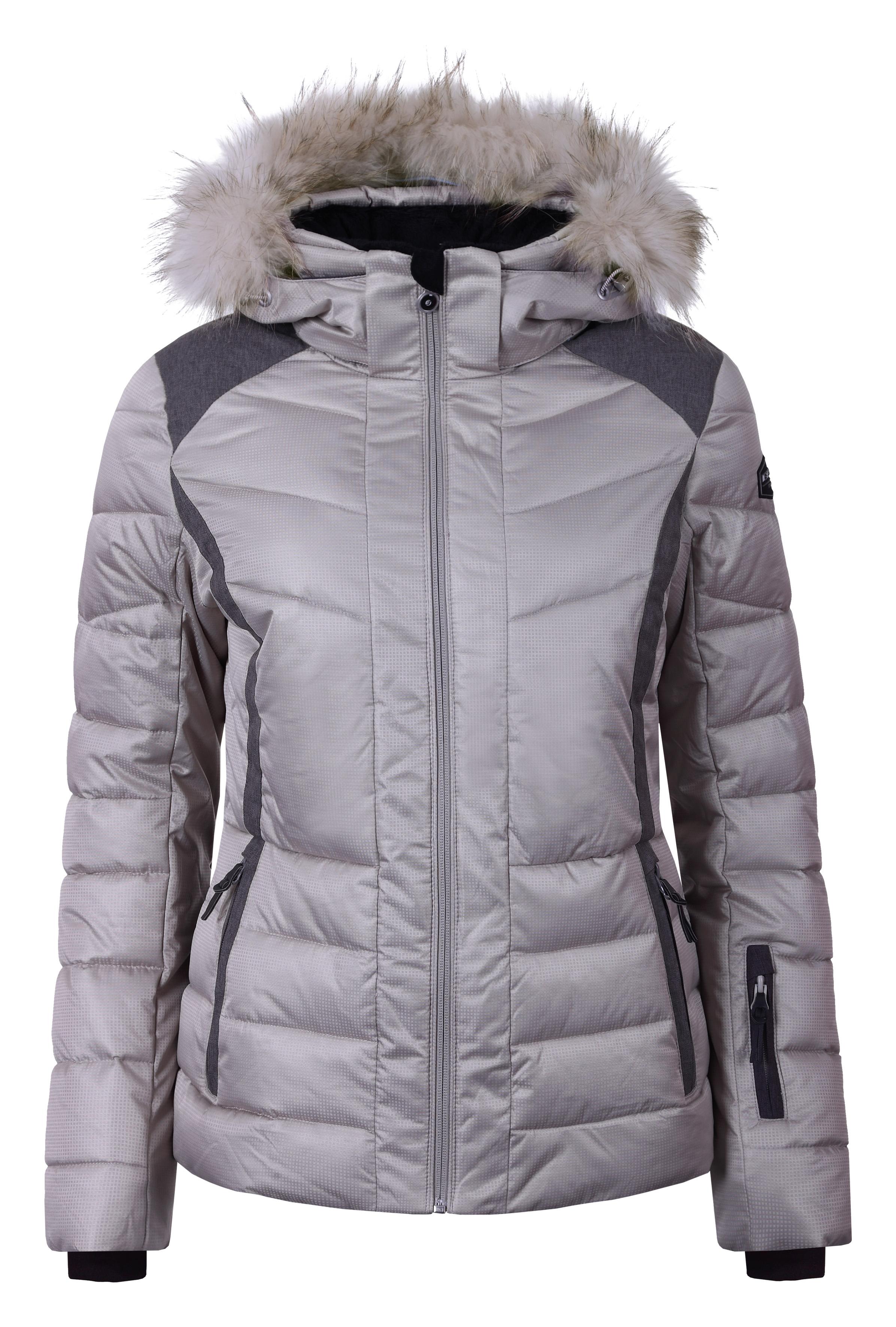 Dámska zimná bunda Icepeak Cindy IA s pravou kožušinou hnedá col. 080 95ddba2a283
