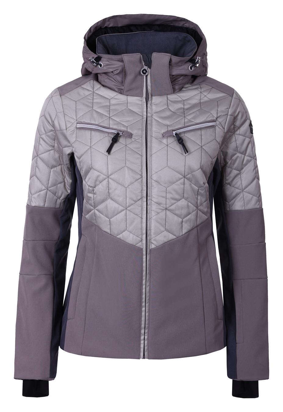 e0f5c427f Dámska lyžiarska softshellová bunda Icepeak Chloe béžová col. 080