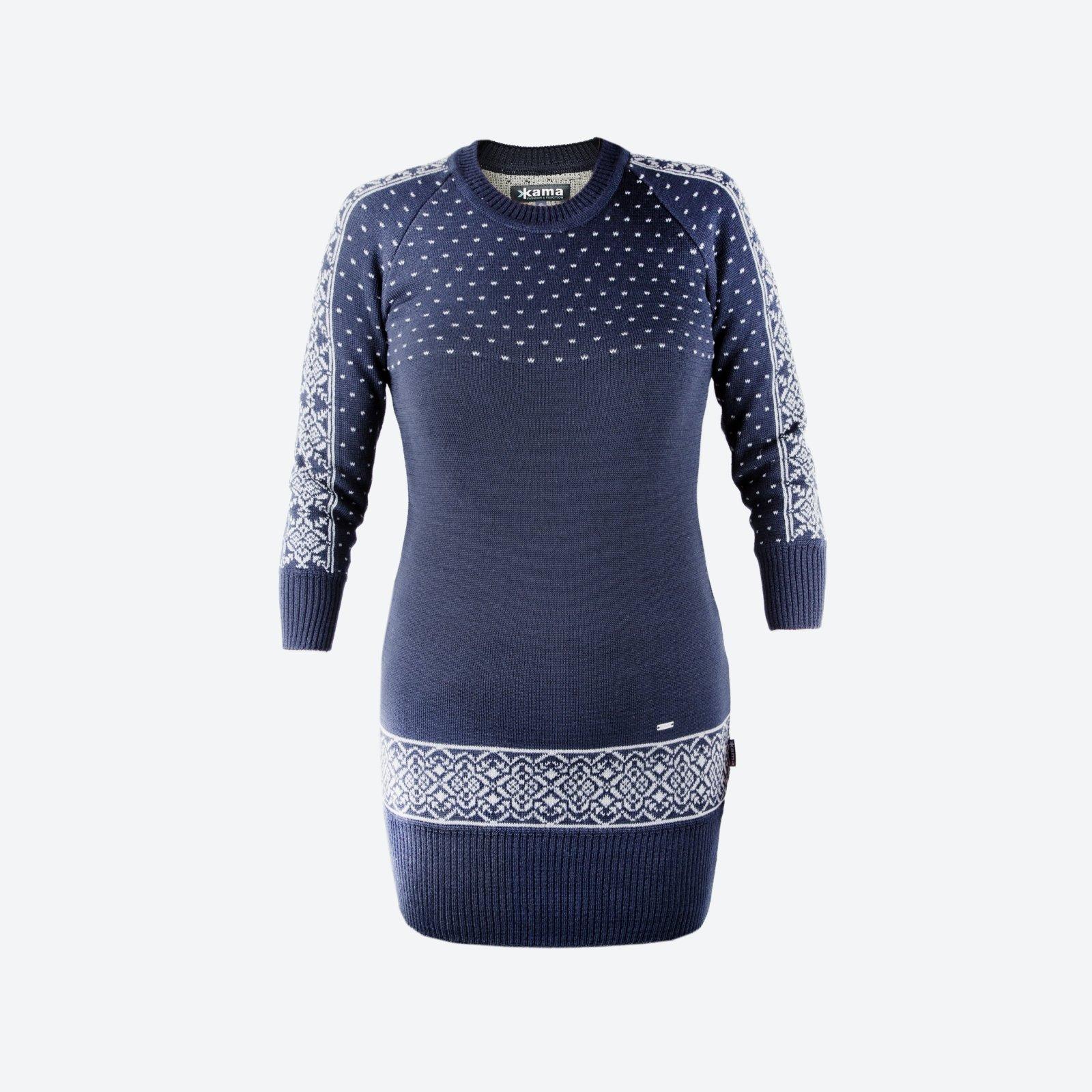 dacc8550a Pletené Merino šaty Kama 5016 108 tm.modrá