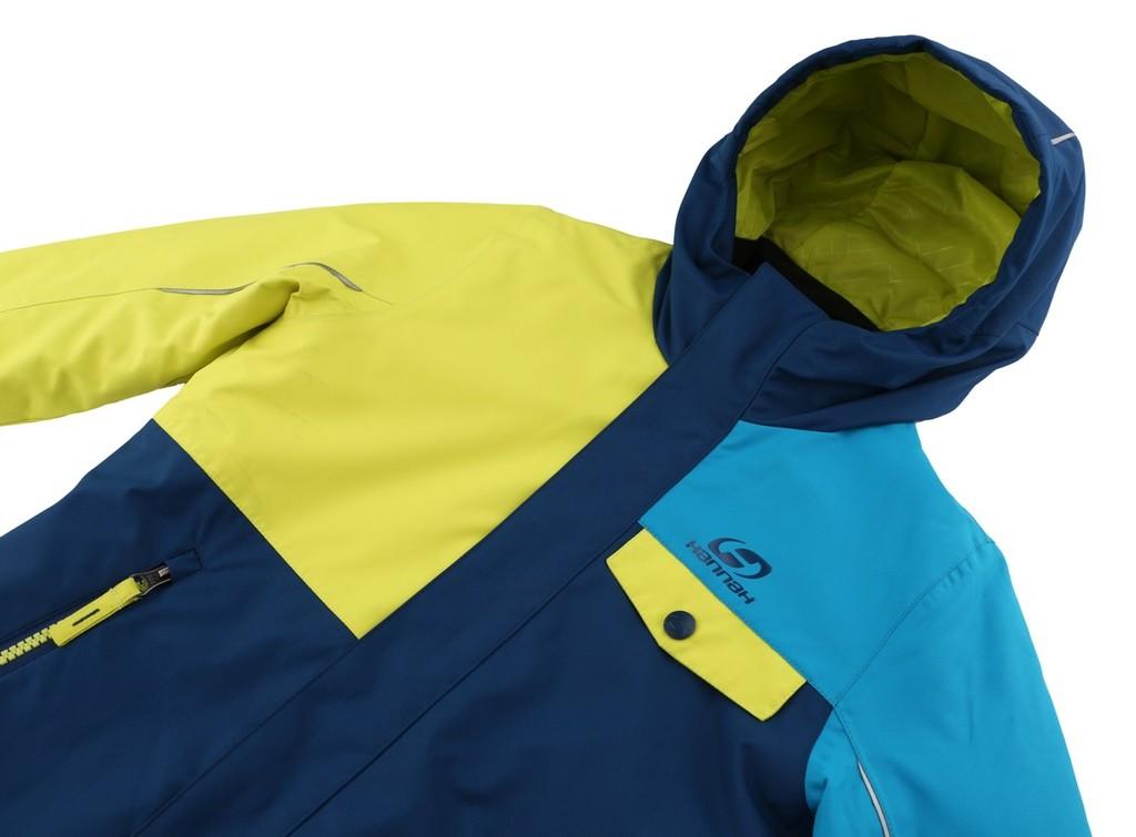3bdbe3bc5 Hannah Chlapčenská lyžiarska bunda Timur JR modro-žltá