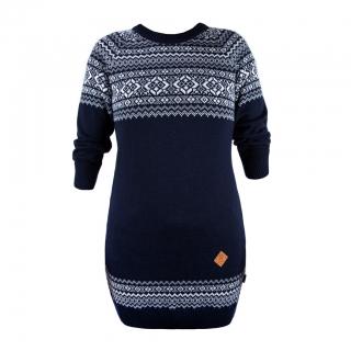 Pletené šaty Kama 5004 108 tm.modrá empty bd9ea8171f9