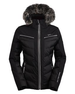 Dámska luxusná lyžiarska bunda SPH Morzine II s pravou kožušinou čierna 18 19  empty 6eb172705e6