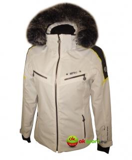 Dámska luxusná lyžiarska bunda SPH Meribel s pravou kožušinou biela 2017 18  empty a1e003a78f0