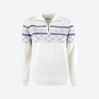 Dámsky sveter s nórskym vzorom Kama 5007 biely empty f9ffb845420