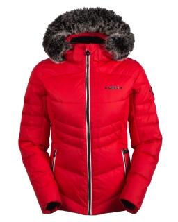 4fba085b4 Dámska luxusná lyžiarska bunda SPH Are s pravou kožušinou červená model 18/ 19 empty