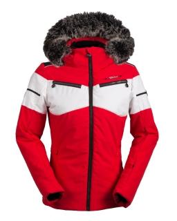Dámska luxusná lyžiarska bunda SPH Flachau s pravou kožušinou červená 2018 19  empty b1d8d84ec05