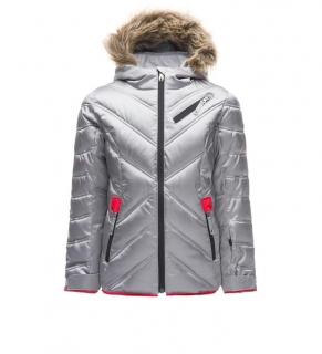 a81aac335 Dievčenská lyžiarska bunda Spyder Girl´s Atlas Down Jacket strieborná mod.
