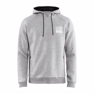Pánska mikina Craft District Hoodie 1907188-950000 sivá