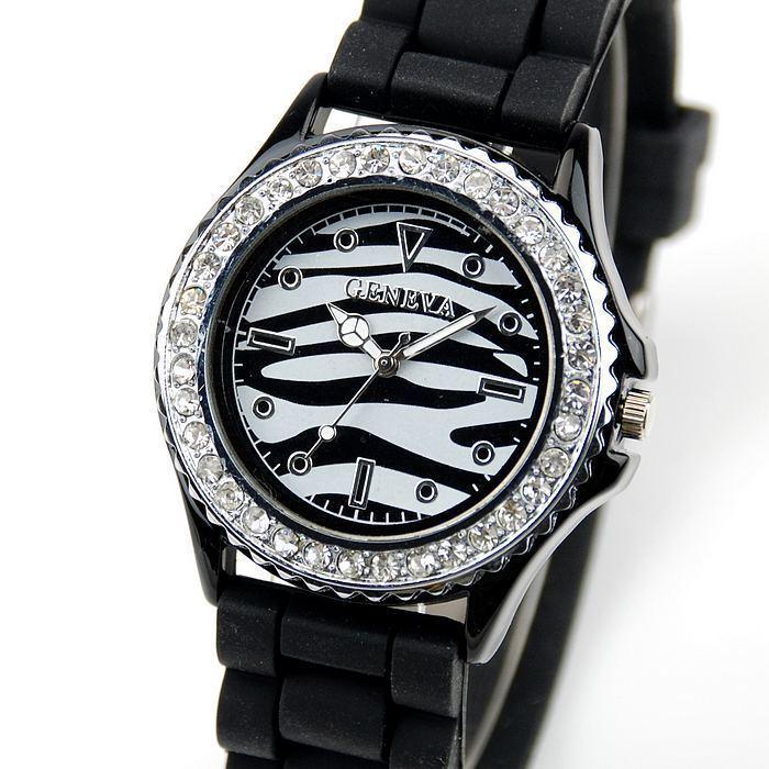 c43113989 Dámske hodinky GENEVA ZEBRA BLACK | jeej.sk