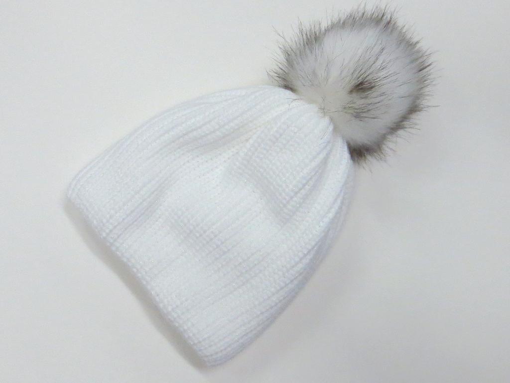 d1acc07d3 Dámska čiapka trblietavá - biela