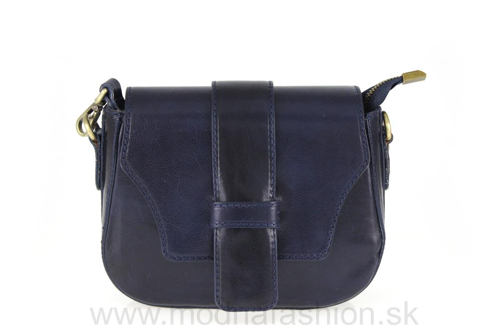 Talianska kožená kabelka 870 modrá MADE IN ITALY 877b111d370
