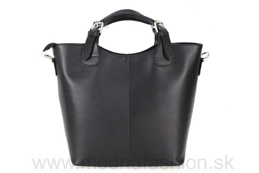 Talianska kožená kabelka 69 čierna 68daceeb1cf