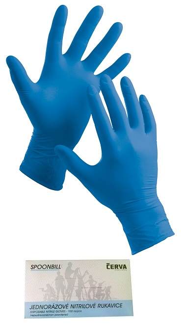 ae9ec6b4fb6 SPOONBILL jednorázové nitrilové nepúdrované rukavice