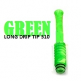 510 Long Pipe Celluloid -  Drip Tip GREEN EDITION