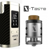 X-Taste ARES 220W + X-FORCE RDTA 28mm - STEEL/BLACK EDITION