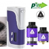PIONEER4YOU IPV 400 200W BOX MOD + LIMITLESS RDTA/RDA - PURPLE/SILVER EDITION