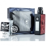 ASMODUS SPRUZZA SQUONK 80W TOUCH MOD KIT - RED RESIN EDICIA
