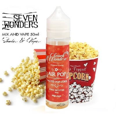 50/60ml SEVEN WONDERS - HIGH VG - AIR POP (POPCORN)