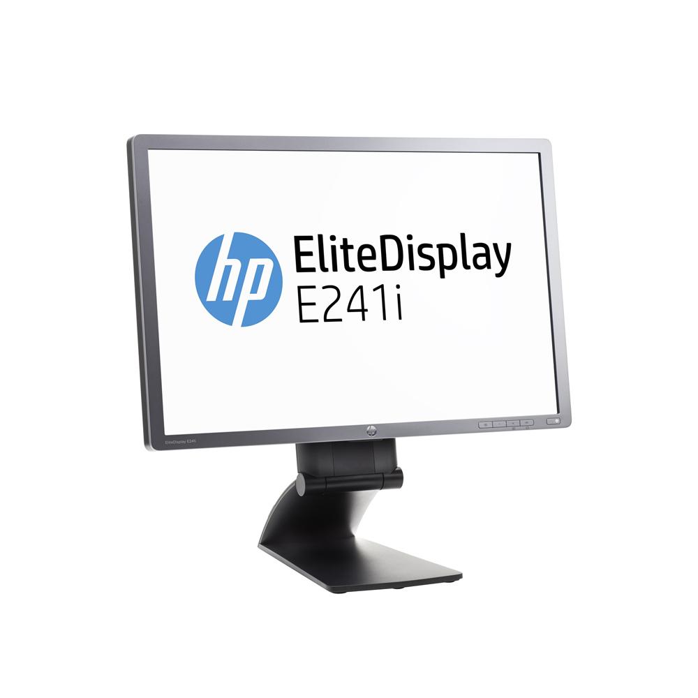 """LCD HP 24"""" E241i; black/gray, A-"""