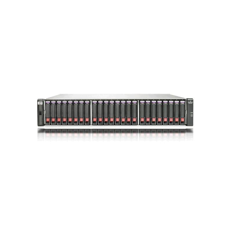 HP StorageWorks MSA2324SA; zlomený plast na pravej strane