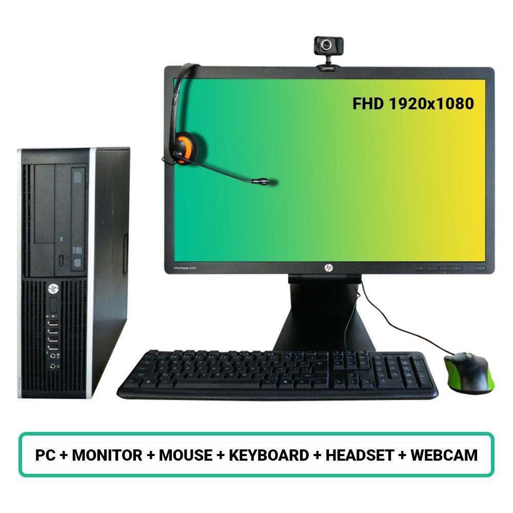 SET HP Compaq Pro 6300 SFF; Pentium G2020 2.9GHz/4GB RAM/250GB HDD/Intel HD/W10PRO