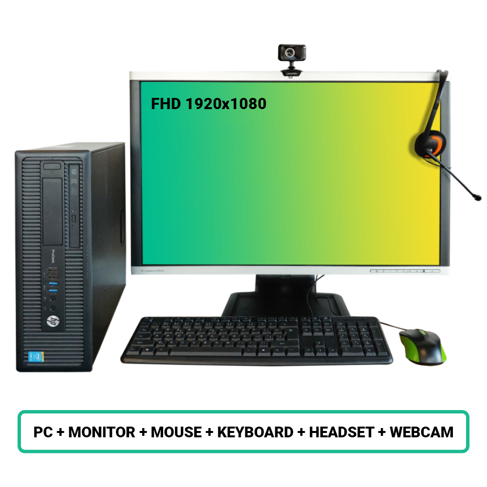 SET HP ProDesk 600 G1 SFF; Core i3 4160 3.6GHz/8GB RAM/128GB SSD+500GB HDD/Intel HD/W10PRO